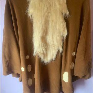 Spirit Halloween Deer Pancho Costume